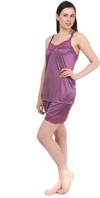 Fasense Exclsuive Summer Sleepwear Satin Barmuda nightwear Top  Shorts DP041 A