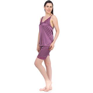 Fasense Exclsuive Summer Sleepwear Satin Barmuda nightwear Top  Shorts DP042 A