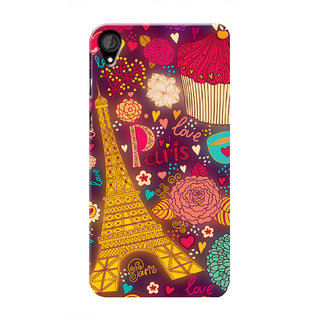 HACHI Love Paris Mobile Cover For HTC Desire 820 :: HTC Desire 820 Plus :: HTC Desire 820s