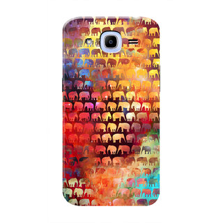 HACHI Colorful Elephants Mobile Cover For Samsung Galaxy J2 Pro (2016)
