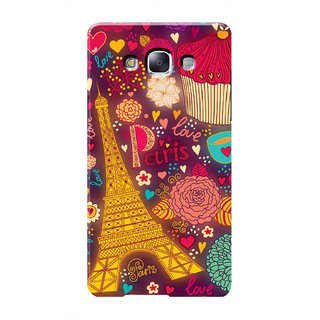 HACHI Love Paris Mobile Cover For Samsung Galaxy E7
