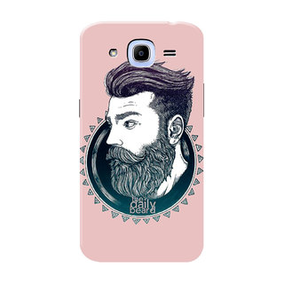 HACHI Love Beard Mobile Cover For Samsung Galaxy J2 Pro (2016)