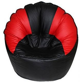 UK Bean Bags Mudda Chair Red/Black Size XXL