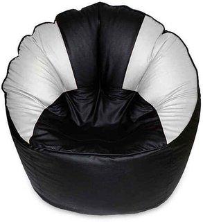 UK Bean Bags Mudda Chair Black/White Size XXL