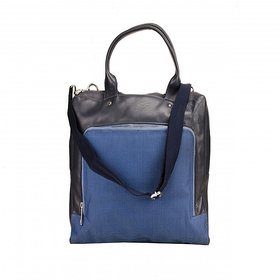 Deeya Blue Genuine Leather Unisex Messenger Bag