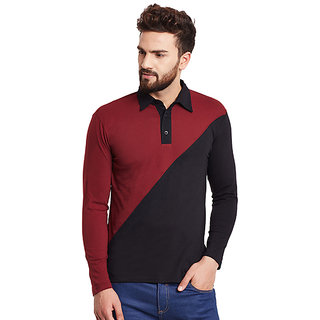 Hypernation Solid Men's Polo Neck T-shirt