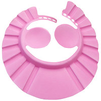 Futaba Adjustable Baby Bath Shower Cap With Ear Shield - Pink