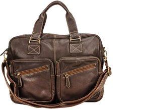 Deeya Dark Brown Genuine Leather unisex Messenger Bag