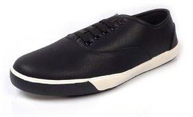 Woodstone Men's Black Lace Up Casual Shoes