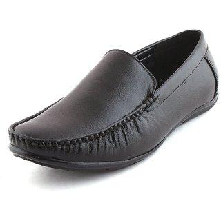 buy woodstone men's black slip on casual shoes online