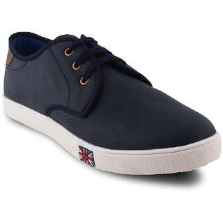 Woodstone Men's Blue Lace Up Casual Shoes