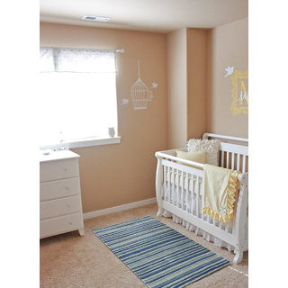 SARASWATIS BLUE Stripe CONTEMPORY LOOK Hand-WOVEN carpet