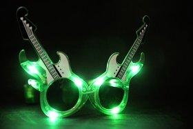 Funcart Green Guitar Shaped Eye Glasses With Light