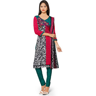 Aaina Multicolor American Crepe Printed Dress Material (SB-3284-JAN) (Unstitched)