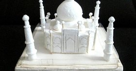 Taj Mahal Model with Thermocol With White Colour
