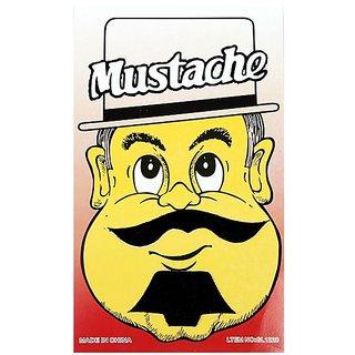 Funcart Single Stick On Moustache With Beard Design 1