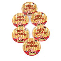 Funcart Funcart Stripe Birthday Theme 9 Disposable Pape