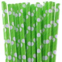 Funcart Polka Dot Paper Straws 25pcs Green