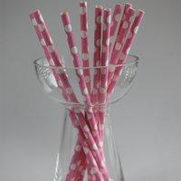 Funcart Funcart Polka Dot Paper Straw-Pink