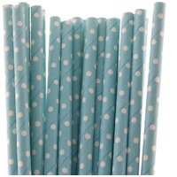Funcart Polka Dot Paper Straws 25pcs Blue