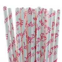 Funcart Party Paper Straws 25pcs Princess