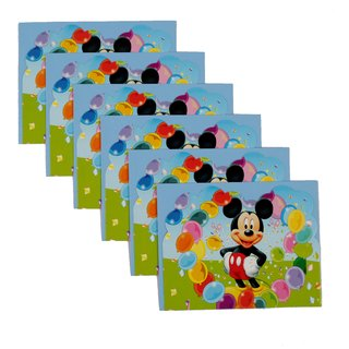 Funcart Mickey Mouse Theme invitation(6 pcs/pack)