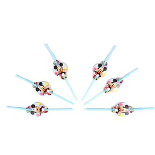 Funcart Mickey Mouse Theme drinking straws (6 pcs/pack)