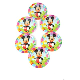 Funcart Mickey Mouse Theme 7 disposable paper plate (6 pcs /pack)