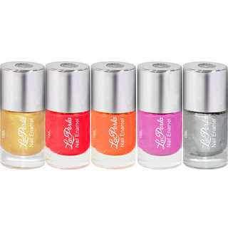 Pack of 5 Premium Nail Paint-By Laperla