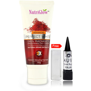 Nutriglow Advance Perfect White Skin Radiance Brightening Day Cram with  Natural kesar Extracts