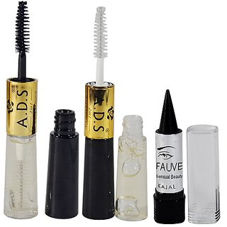 ADS 2IN1 Waterproof Transparent Gel Mascara Pack of 1 And Free Kajal-PHMP