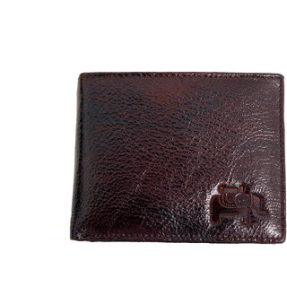 Tise 100 Original Buffalo Hide Tan Brown BiFold Leather Wallet For Men
