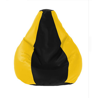 UK Bean Bags Classic Bean Bag Cover Black/Yellow Size XXL