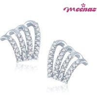 Meenaz Elegant Rhodium Plated CZ Earings T109