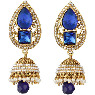 Styylo Fashion Exclusive Golden Blue White Earring Set/S 71