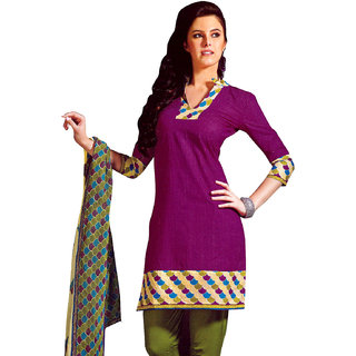 3e6df5bb84c2 Lavis Dark Pink   Green Pure Cotton Dress Material Prices in India-  Shopclues- Online Shopping Store