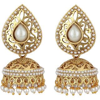 Styylo Fashion Exclusive Golden White Earrings Set /S 80