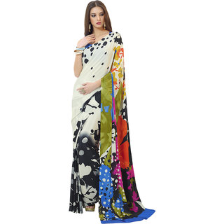 Swaron Multi Colour Poly Crepe Saree 251S1303A