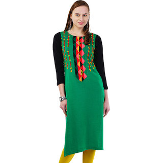 Dove Winter wear Acrylic wool Kurti 415grn