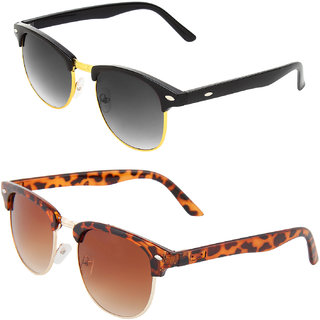 Zyaden Combo of Clubmaster And Clubmaster Sunglasses (Combo-110)