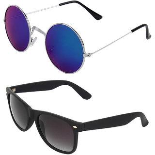 Zyaden Combo of Round And Wayfarer Sunglasses (Combo-113)