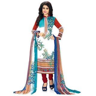 Printed Multi Color Churidar Suit