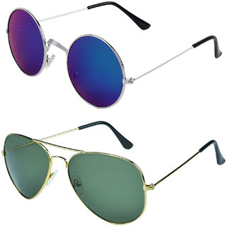 Zyaden Combo of Round And Aviator Sunglasses (Combo-121)