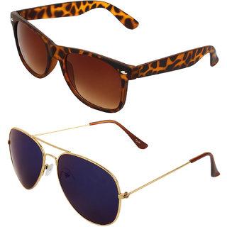 Zyaden Combo of Wayfarer Sunglasses & Aviator Sunglasses (Combo-31)