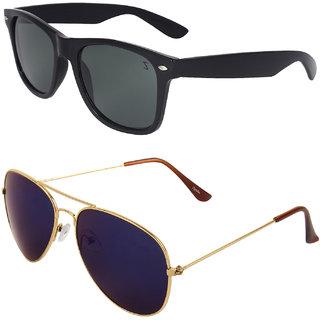 Zyaden Combo of Wayfarer Sunglasses & Aviator Sunglasses (Combo-39)
