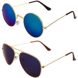 Zyaden Combo of Round And Aviator Sunglasses (Combo-143)