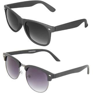 6d6006d1ea Buy Zyaden Combo of Wayfarer Sunglasses Clubmaster Sunglasses (Combo ...
