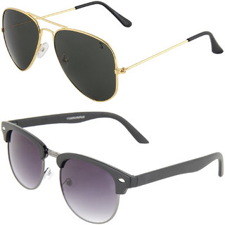 8c49644b18 Buy Zyaden Combo of Aviator Sunglasses Clubmaster Sunglasses (Combo-69)  Online - Get 79% Off