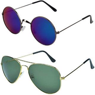 d165d4c67b Buy Zyaden Combo of Round And Aviator Sunglasses (Combo-157) Online ...