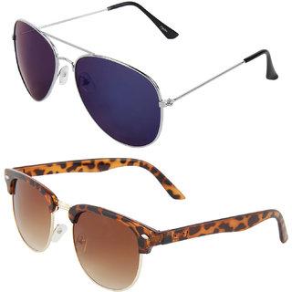 ee9dcffe11 Buy Zyaden Combo of Aviator Sunglasses Clubmaster Sunglasses (Combo-79)  Online - Get 79% Off